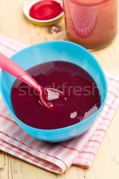 baby food in plastic bowl Stock photo © jirkaejc