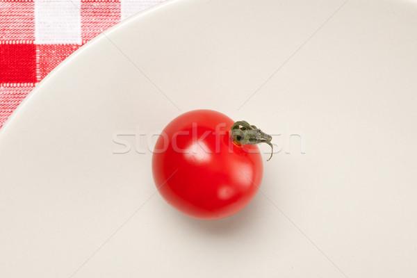 Pomodorini bianco alimentare giardino rosso insalata Foto d'archivio © jirkaejc
