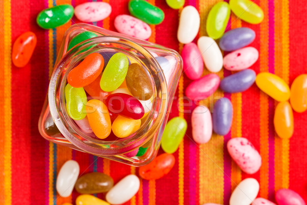 jelly beans in glass jar Stock photo © jirkaejc