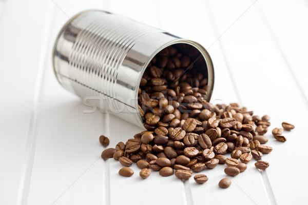 Grãos de café estanho lata café grupo café Foto stock © jirkaejc