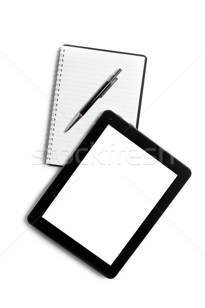 touch tablet and blank notebook Stock photo © jirkaejc