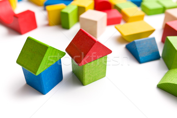 house made from wooden toy blocks Stock photo © jirkaejc