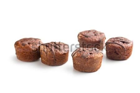 Zoete dessert chocolade fruit jam vruchten Stockfoto © jirkaejc
