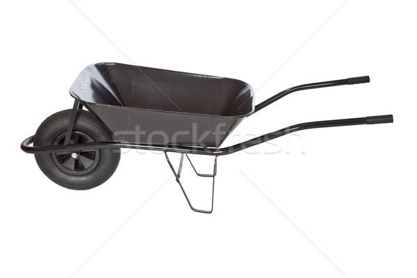 Preto carrinho de mão branco edifício construção ferramentas Foto stock © jirkaejc