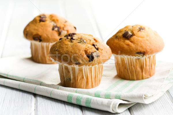 ízletes muffin csokoládé konyha cukorka főzés Stock fotó © jirkaejc