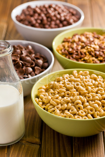 various sweet cereals in bowls  Stock photo © jirkaejc