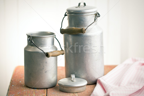 vintage milk cans Stock photo © jirkaejc
