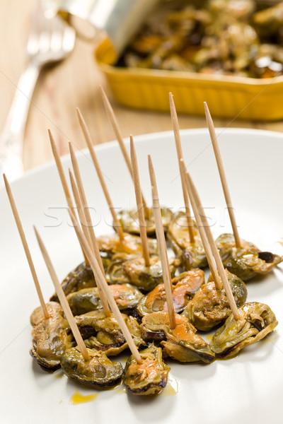 tasty smoked mussels Stock photo © jirkaejc