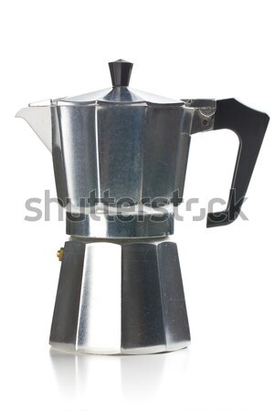 Italiaans koffiezetapparaat witte koffie metaal drinken Stockfoto © jirkaejc
