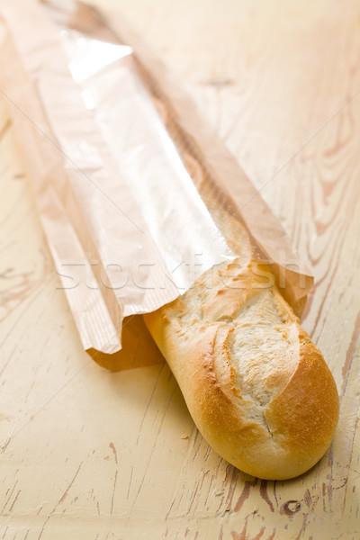 французский багет деревянный стол продовольствие здоровья хлеб Сток-фото © jirkaejc