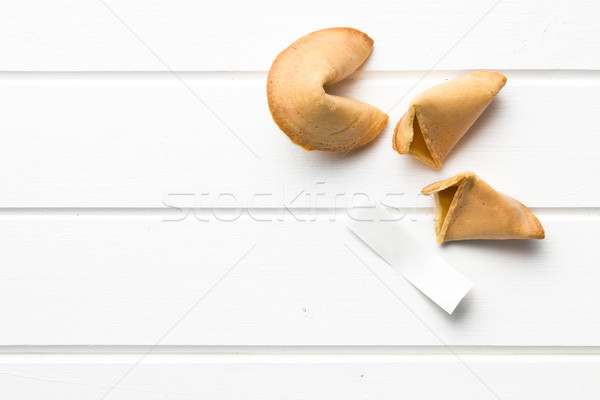 top view of fortune cookie Stock photo © jirkaejc
