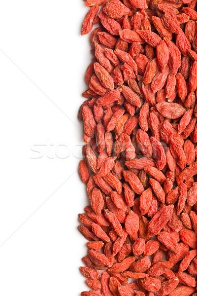сушат Ягоды белый фон красный азиатских Сток-фото © jirkaejc