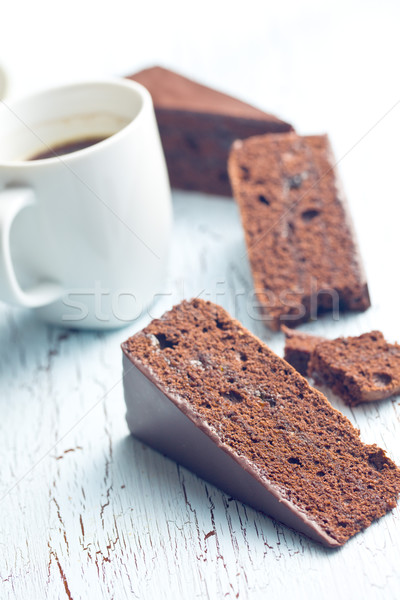 Bolo café velho tabela comida retro Foto stock © jirkaejc