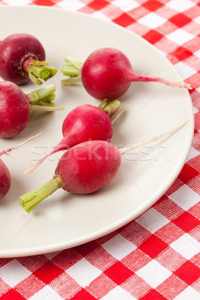 Taze turp masa örtüsü gıda grup Stok fotoğraf © jirkaejc