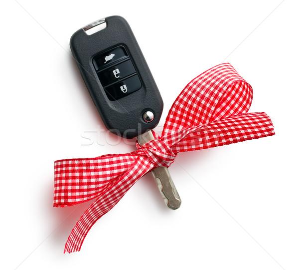 車のキー リボン 白 車 ショッピング キー ストックフォト © jirkaejc