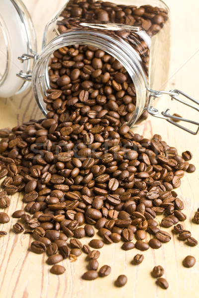 poured coffee beans Stock photo © jirkaejc