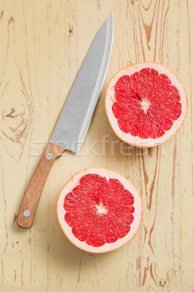 Czerwony grejpfrut stół kuchenny kolor skóry Zdjęcia stock © jirkaejc
