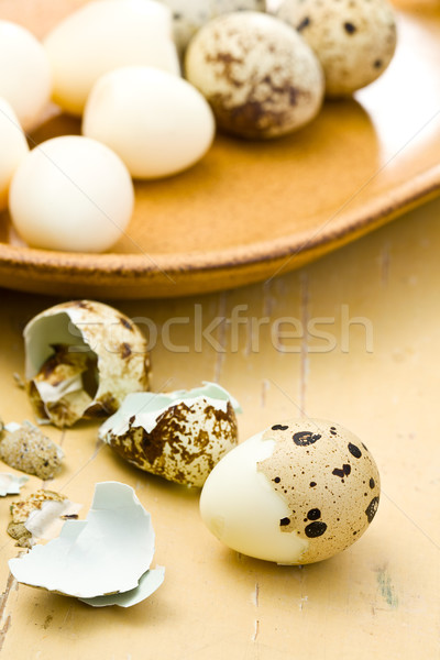 boiled quail eggs Stock photo © jirkaejc
