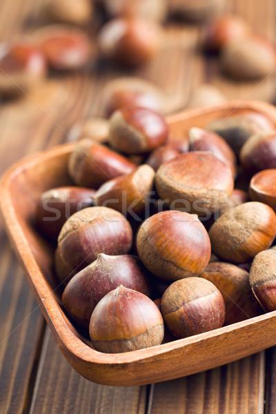 чаши деревянный стол природы здоровья завода десерта Сток-фото © jirkaejc