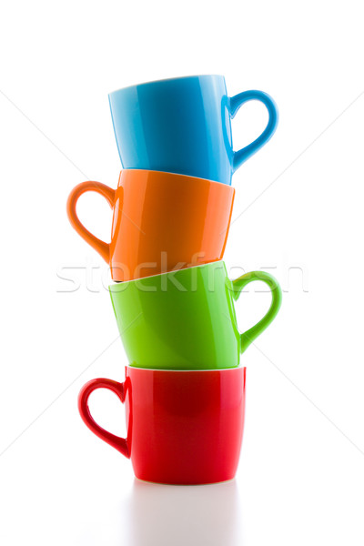 pile of colorful ceramic mugs Stock photo © jirkaejc