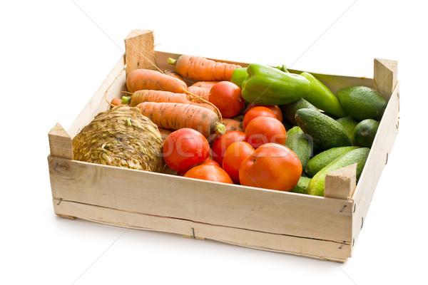vegetable in wooden box Stock photo © jirkaejc