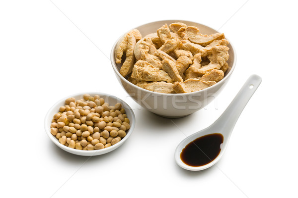 soybeans, soy meat and soy sauce Stock photo © jirkaejc