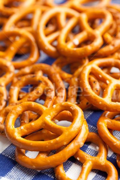 Tuzlu kraker fotoğraf atış ekmek yeme Stok fotoğraf © jirkaejc