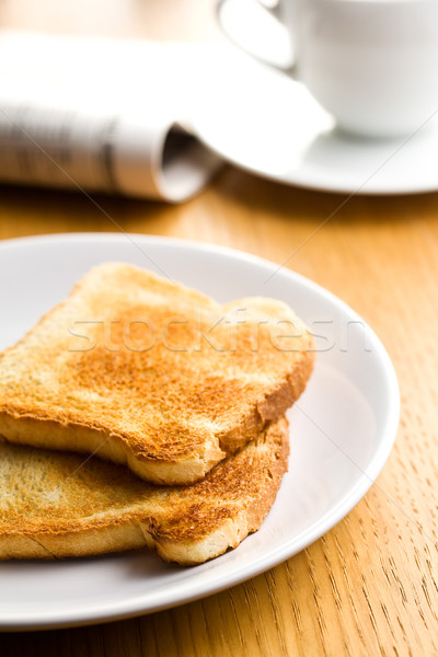 white toasted bread on plate Stock photo © jirkaejc