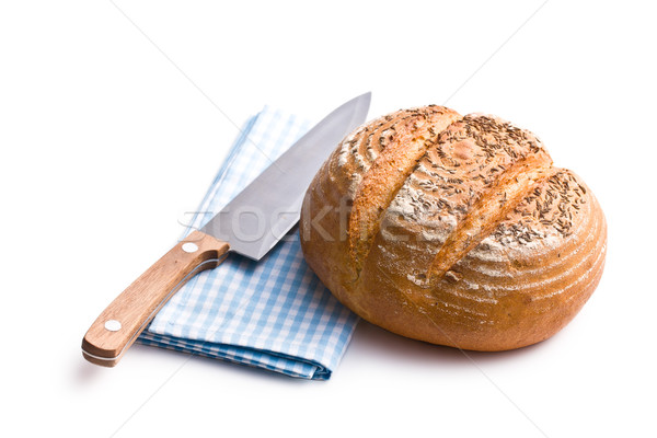 round bread with knife Stock photo © jirkaejc