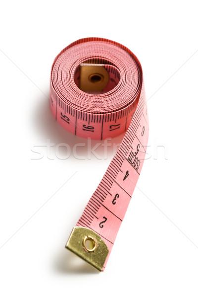 ピンク 巻き尺 白 ミシン 研究 測定 ストックフォト © jirkaejc