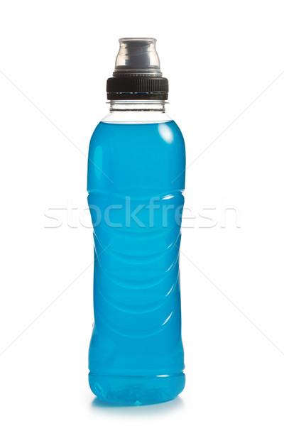 Kék energiaital műanyag üveg víz sport Stock fotó © jirkaejc