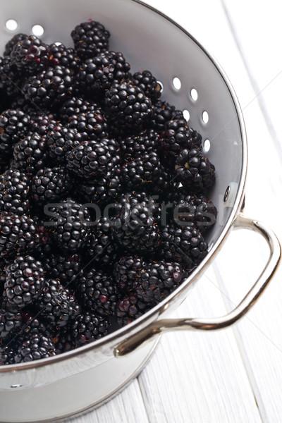 blackberry fruit in strainer Stock photo © jirkaejc