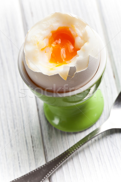 boiled egg in eggcup Stock photo © jirkaejc