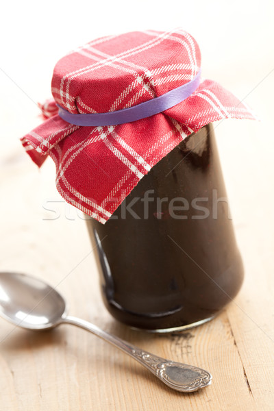 fruity jam in glass jar Stock photo © jirkaejc