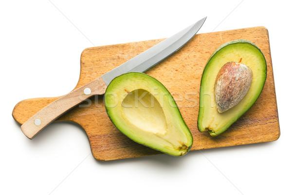 Stok fotoğraf: Gıda · arka · plan · yeşil · bıçak · yeme