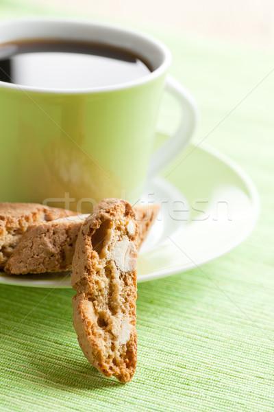 italian cantuccini cookies and coffee cup Stock photo © jirkaejc