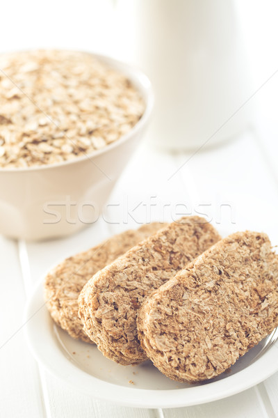 Stock photo: wholemeal crackers