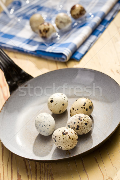 quail eggs on kitchen table Stock photo © jirkaejc