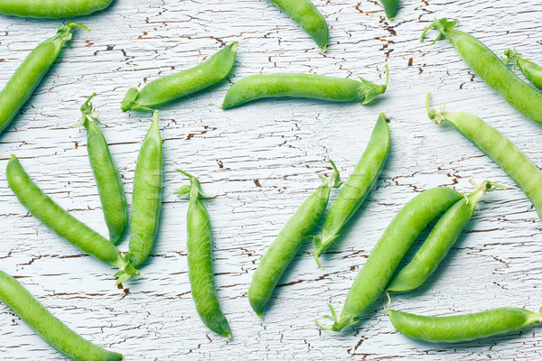 top view of green pea pods Stock photo © jirkaejc