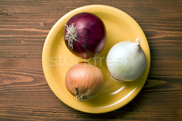 various onions on plate Stock photo © jirkaejc