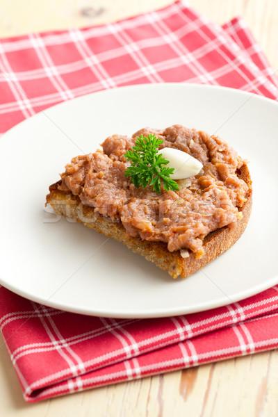 roasted bread with steak tartare Stock photo © jirkaejc