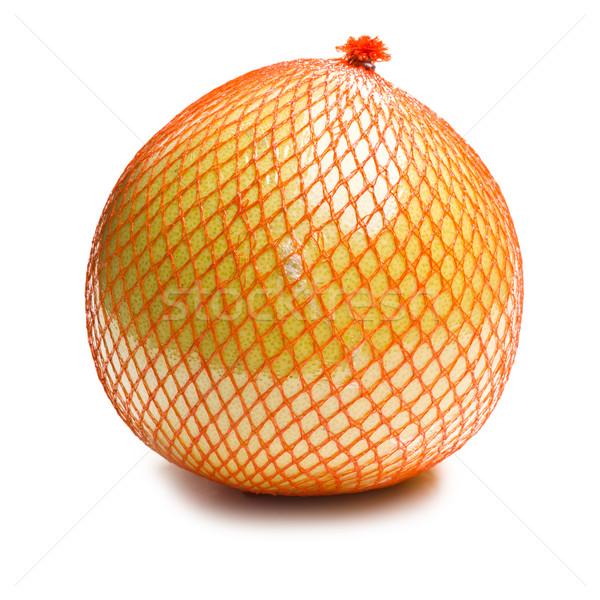 pomelo fruit wrapped in plastic reticle Stock photo © jirkaejc
