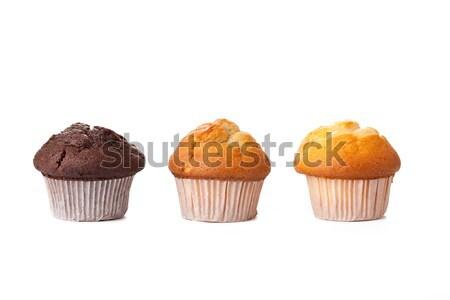 Muffins zoete witte chocolade cake cafe Stockfoto © jirkaejc