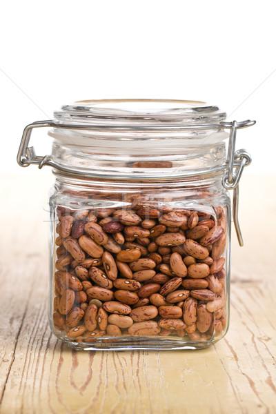red beans in glass jar Stock photo © jirkaejc