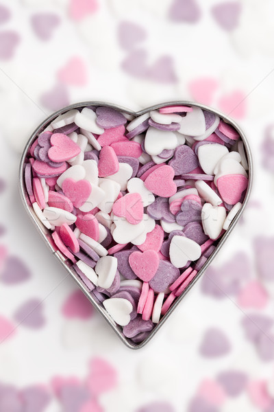 Stock photo: sweet colorful hearts