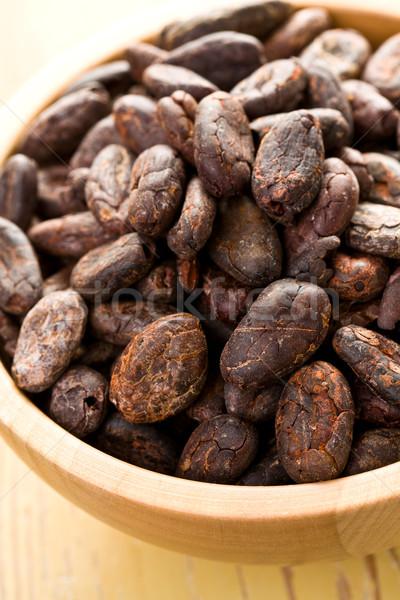 Stockfoto: Kom · keukentafel · natuur · gezondheid · chocolade