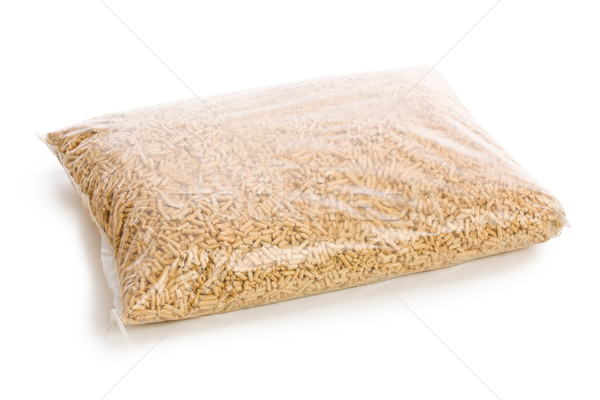 wooden pellets in plastic bag Stock photo © jirkaejc
