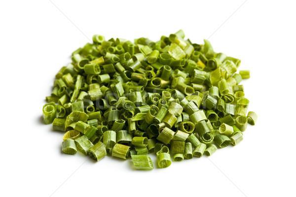 緑 チャイブ 白 健康 背景 サラダ ストックフォト © jirkaejc