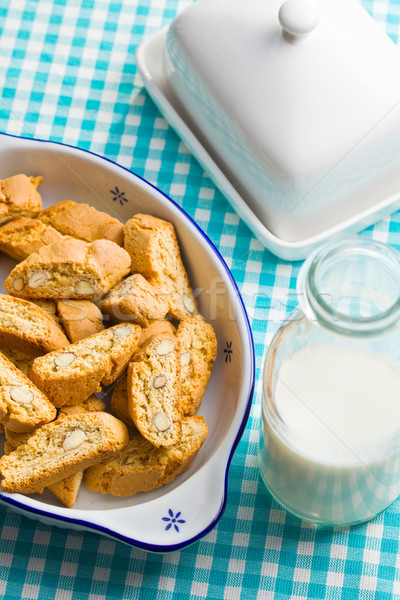 Cookies keukentafel voedsel cake snoep dessert Stockfoto © jirkaejc