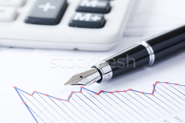 pen and business graph Stock photo © jirkaejc